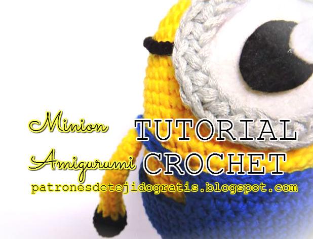 Aprende a tejer un Minion al crochet paso a paso