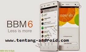 BBM 6 (BBM Mod MIUI 6 Style) Versi 2.8.0.21 APK