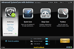Advanced SystemCare with Antivirus 2012
