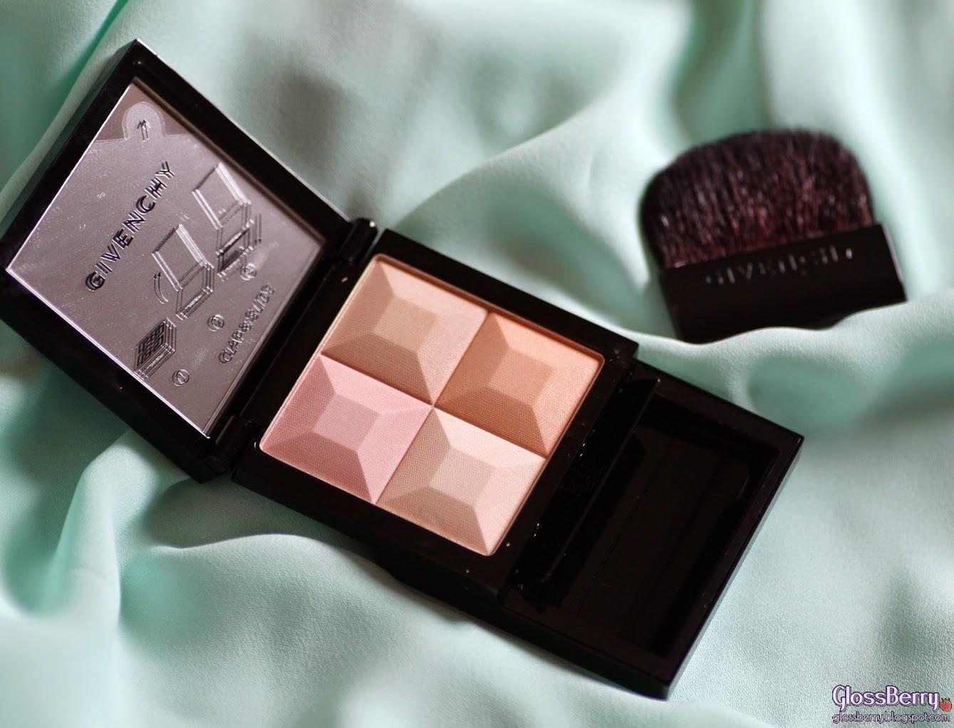 Givenchy - Le Prisme Visage Mat Soft Compact Face Powder review swatches 83 peach פודרה ג'יבנשי גיבנשי סקירה בלוג איפור וטיפוח המלצות עור יבש גלוסברי