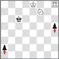 White Chess Study
