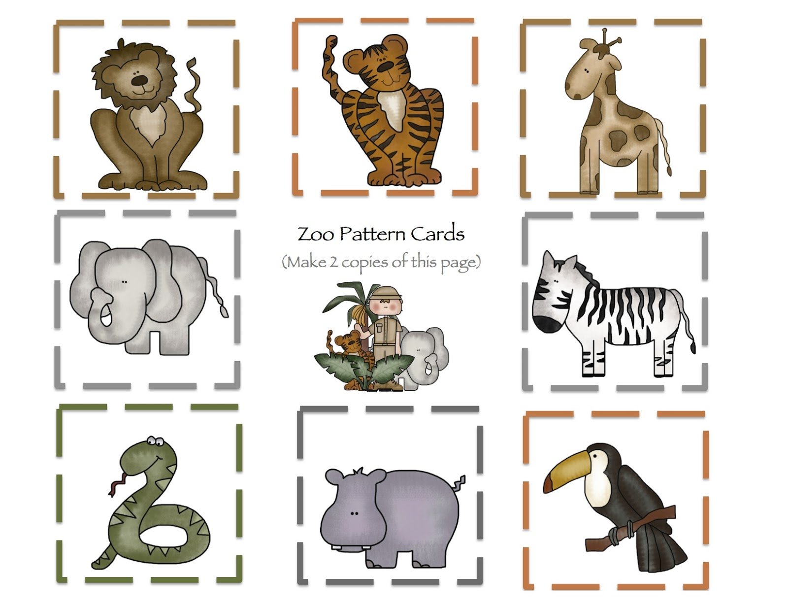 Modest image inside printable pictures of zoo animals