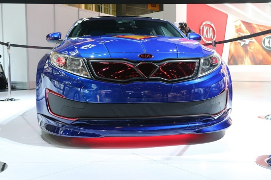 Superman-themed Kia Optima Hybrid