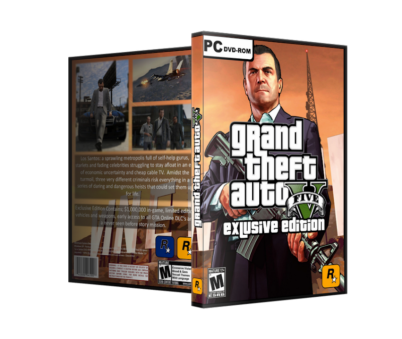 Capa Grand Theft Auto V Exclusive Edition PC