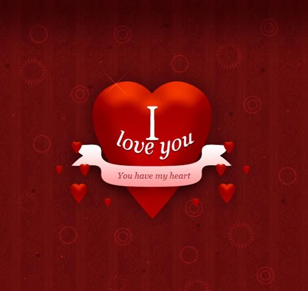 Mambuat Love Denagn Photoshop Untuk Ucapan Valentine.