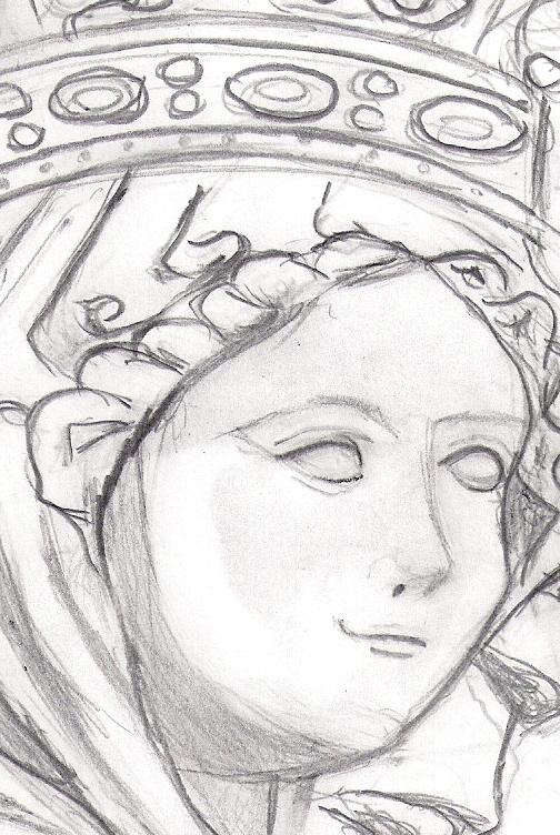 Dibujos de un Carrionero Escultura gtica Virgen blanca