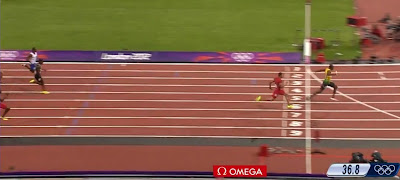 Jamaica win the 4X100 meters relay at the London 2012 Olympics