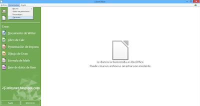 Opciones de LibreOffice desde el menú de herramientas
