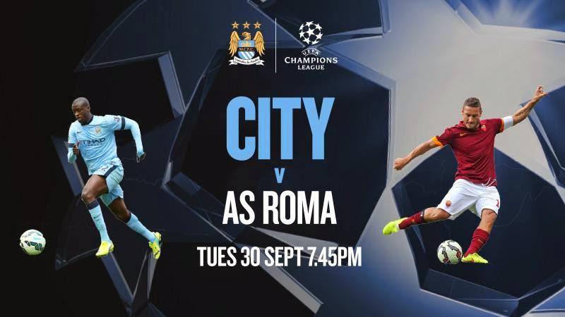 Prediksi Skor Manchester City vs Roma 01 Oktober 2014