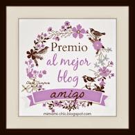 Premio: Mejor blog amigo