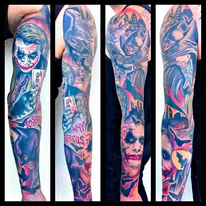 Batman tattoos batman tattoos for Batman sleeve tattoo