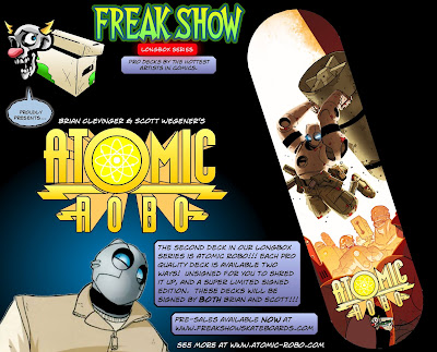 Atomic Robo Longbox Series Skateboard by Freak Show
