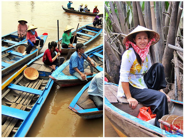Women working at the Mekong Delta river