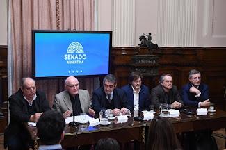 Homenaje a Aldo Ferrer en el Senado de la Nacion