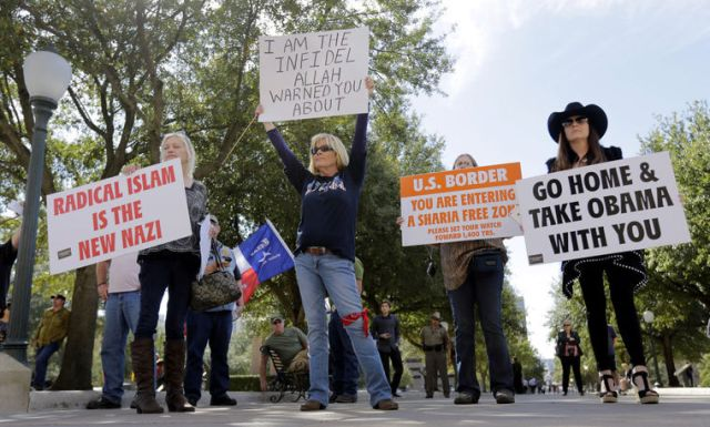 texas protest to ban islam sharia law