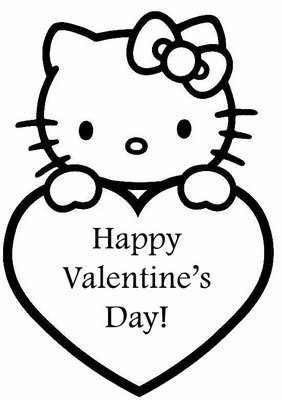 Free Printable Coloring on Disney Hello Kitty Valentines Day Coloring Pages