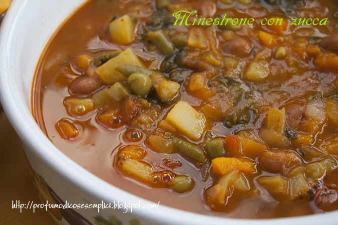 minestrone con zucca