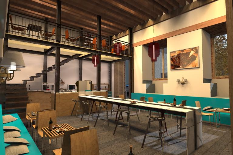 Arquitectura y dise o cafeter a museo de la ciudad de mexico for Disenos para cafeterias