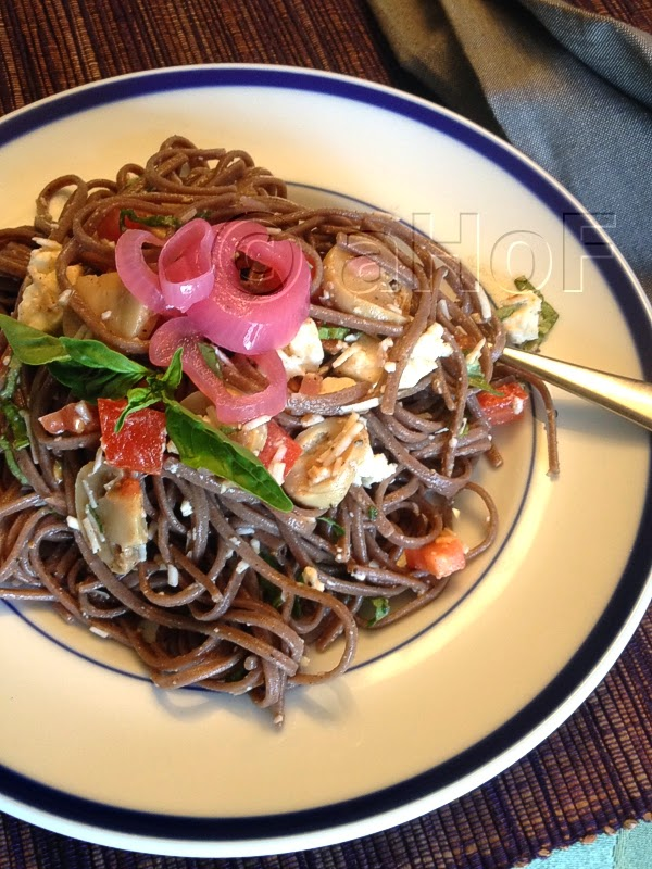 Soba Noodles with Feta and Basil