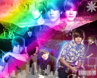 Sexy wallpapers of Justin Bieber (colours)