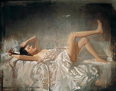 Erotismo Desnudos Orientales Oleos de Mao Yigang