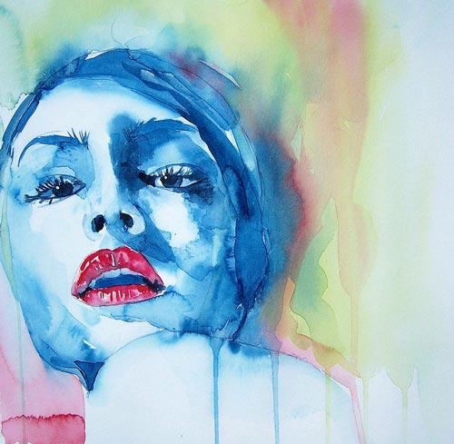 Bila gambar bersuara catan water color water color for My first watercolor painting