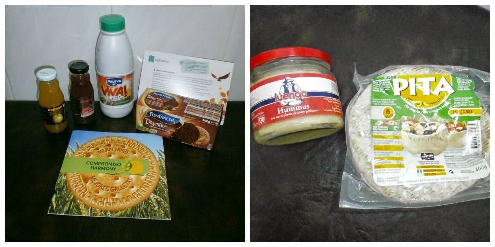 Disfrutabox Septiembre: Hummus, Delizum ecólogico, Pan de pita, Puleva Viva y Fontaneda