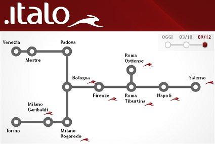 nuove rotte Italo treno