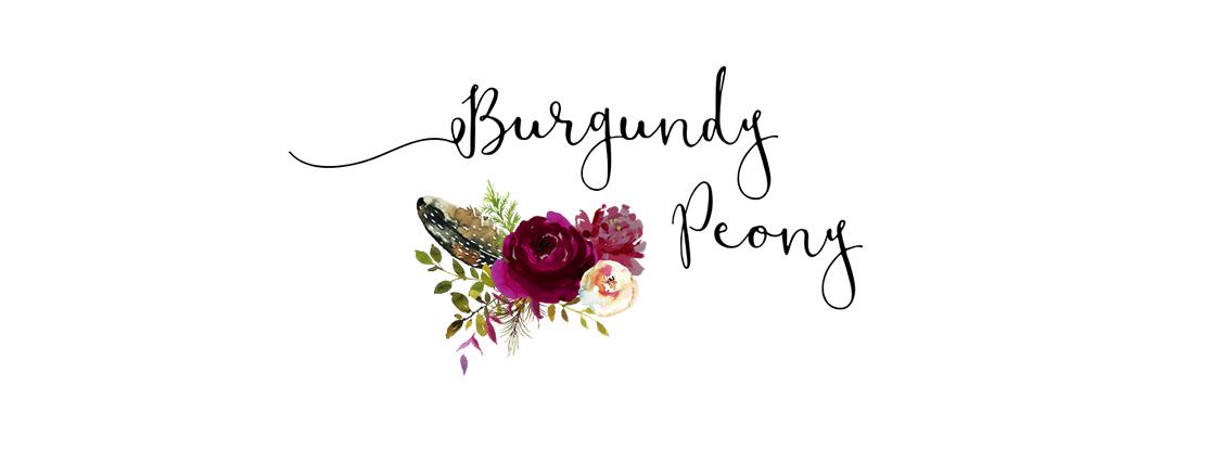 Burgundy Peony