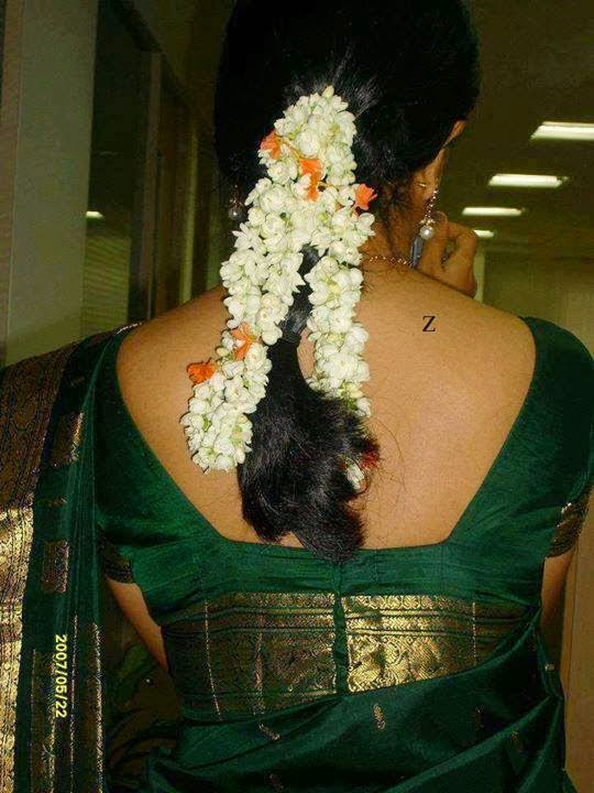 Green Saree Hot Back | Jasmine Back Hot