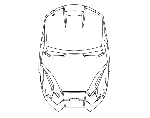 Iron Man Mask Coloring Pages