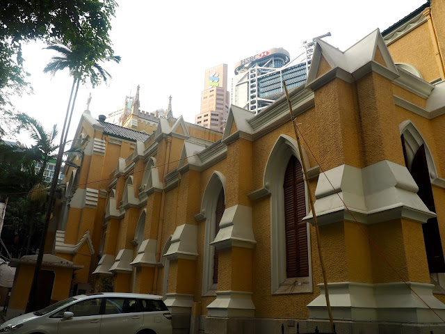 Exterior of St John's Cathedral, Central, Hong Kong