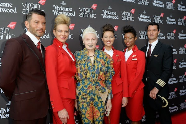 Vivienne Westwood designs new Virgin Atlantic uniform launch party July 2014