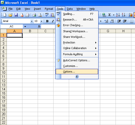 How To Change The Gridlines Color In Microsoft Excel 2010 | Apps ...