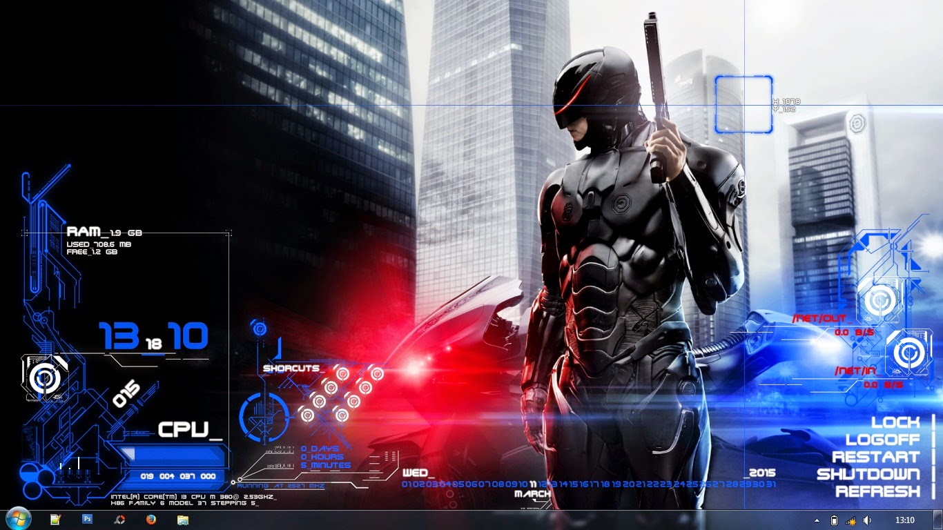 Download skin Rainmeter ROBOCOP