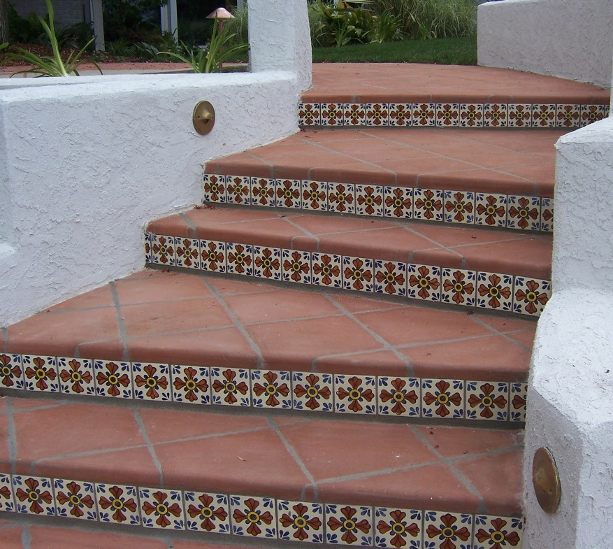 The 2 minute gardener november 2011 - How to tile concrete stairs ...