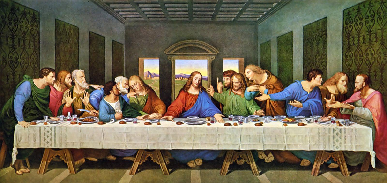 Gnade und Hochverrat (Gründonnerstag) Da Vinci Last Supper Restored