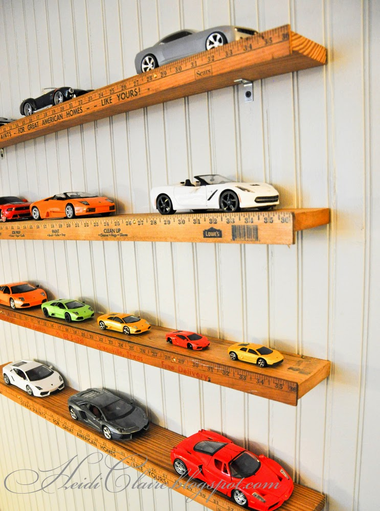 Toy Car Shelves : Heidi claire yard stick shelf