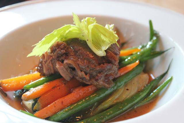 Braised veal cheek at Nix's Mate, Boston, Mass.