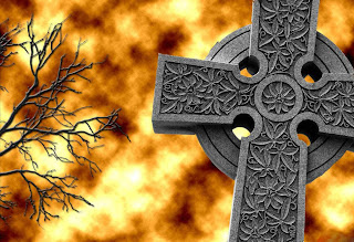 Burning Cross Dark Gothic Wallpaper