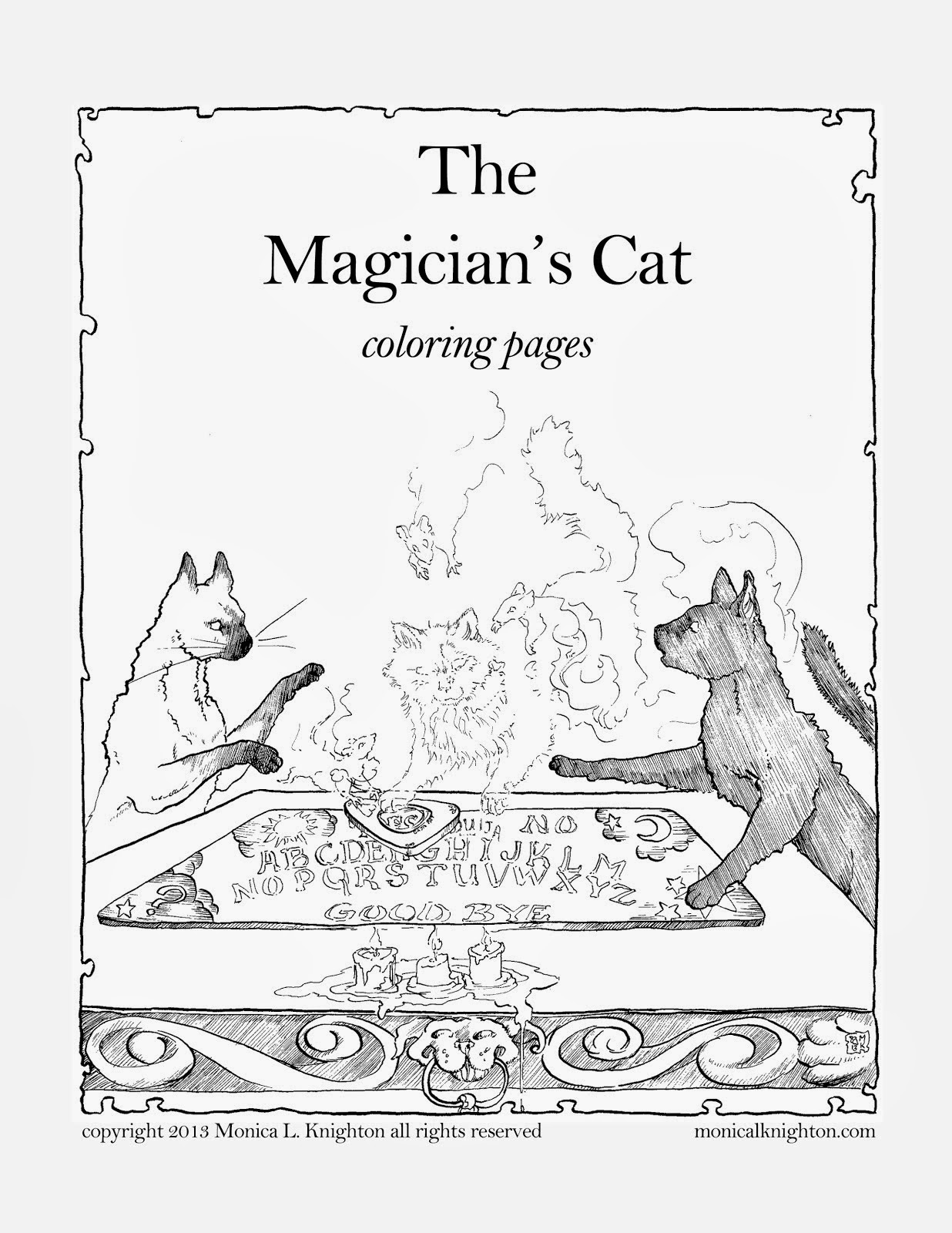Magician's Cat Coloring Pages