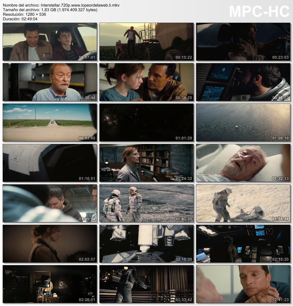 Interstellar (2014) BRrip 720p Latino