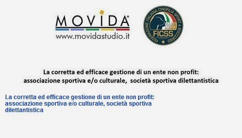 Immagine La corretta ed efficace gestione di un Ente Non Profit: convegno MOVIDA per gli affiliati FICSS