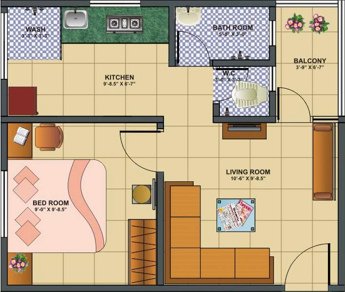 1 Bhk Home Decore Joy Studio Design Gallery Best Design