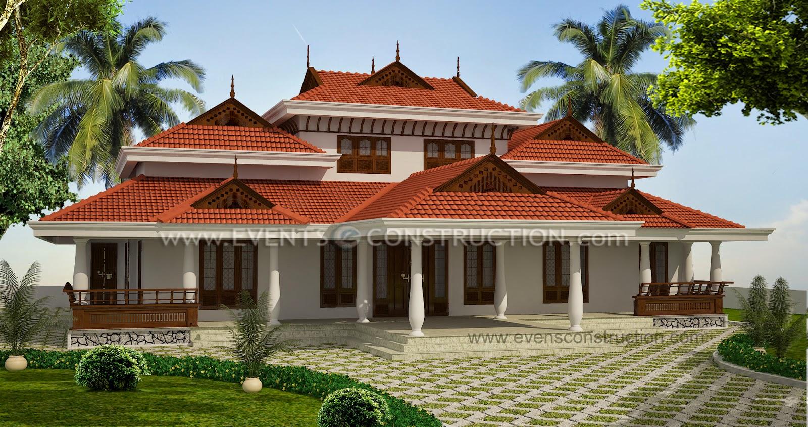 Evens Construction Pvt Ltd Kerala Style Ettukettu House