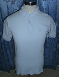 Fred Perry collar T-shirt (lite blue)