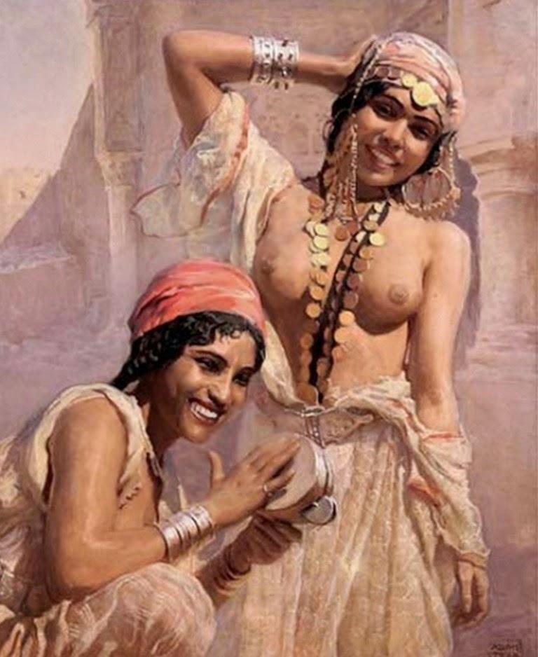mujeres-del-sahara-pintadas-al-oleo