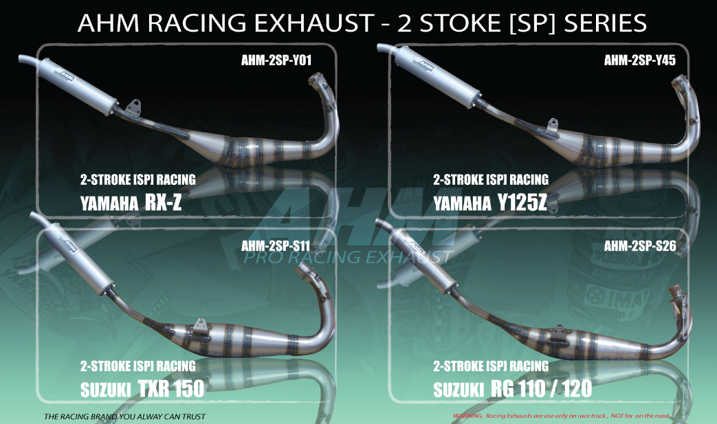 Ahm Exhaust For Yamaha Rxz