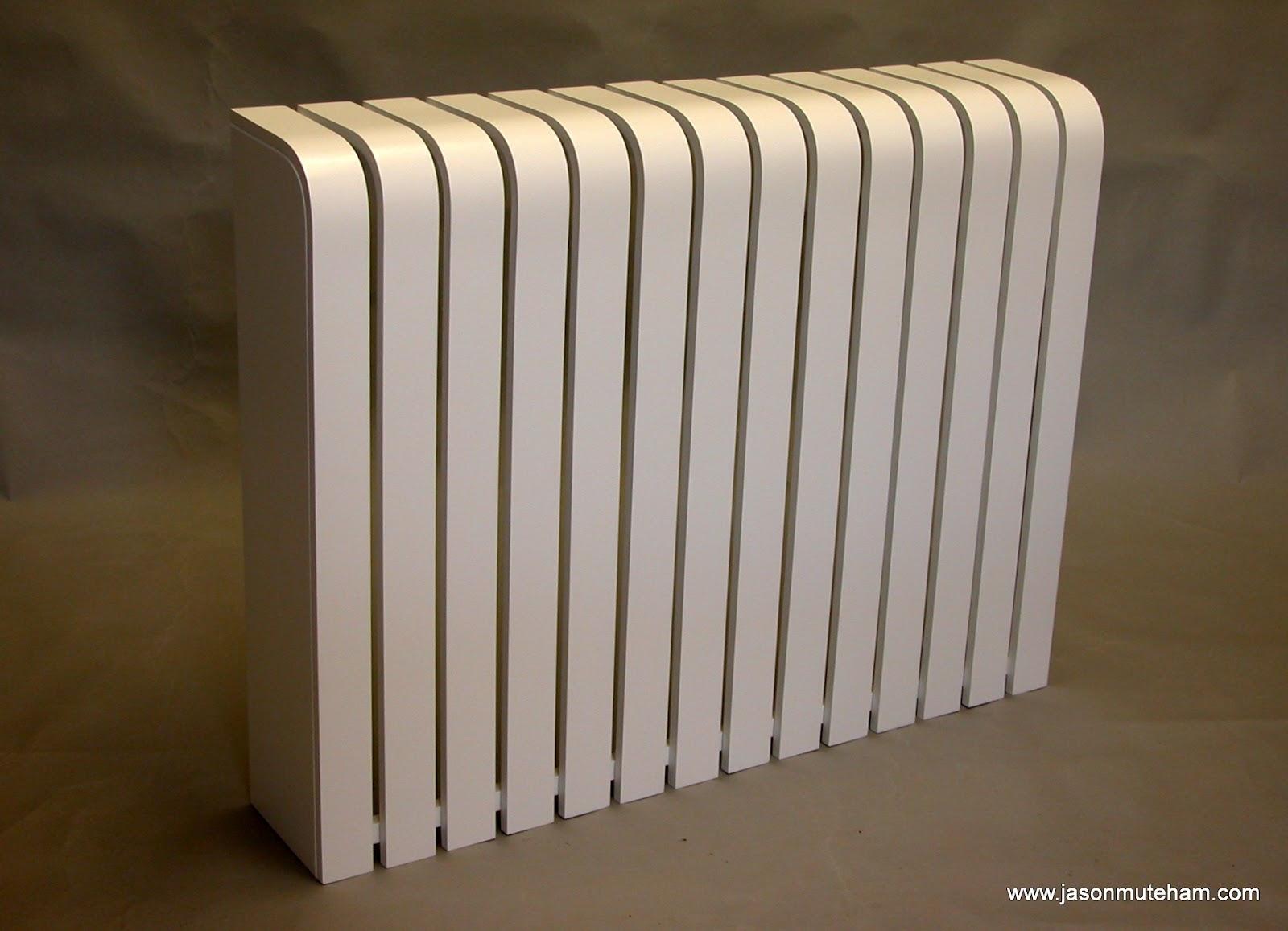 white designer radiator cover