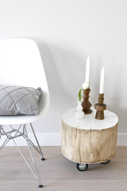 Troncos de madera para decorar
